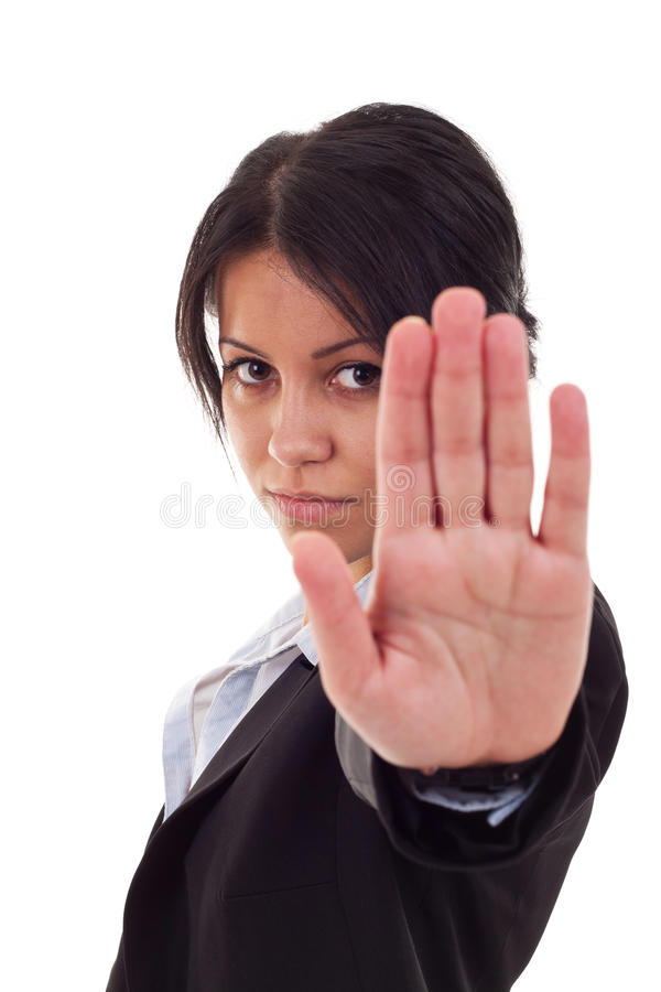 Free Business Woman Saying Stop Stock Images - 16027454