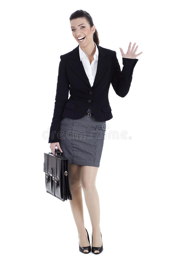 Download Business woman says HAI stock image. Image of businesswoman - 13715407