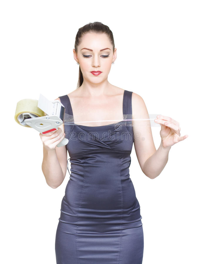 Download Business Woman Sealing And Packaging Business Deal Stock Image - Image of feminine, female: 20452365