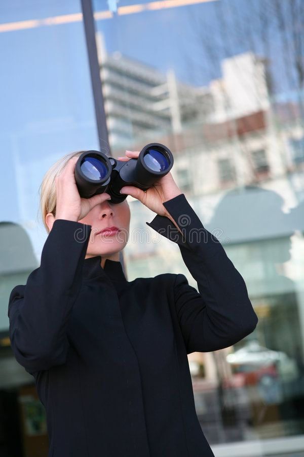 Business Woman Search royalty free stock photo