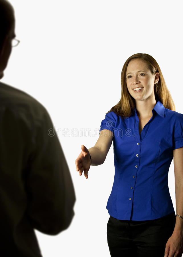 Free Business Woman Shaking Hands Stock Photography - 10717512
