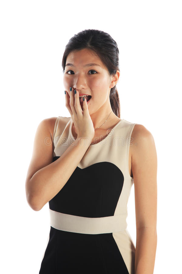 Business Woman Shocked royalty free stock image