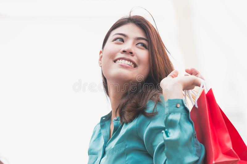 Business woman shopping royalty free stock photo