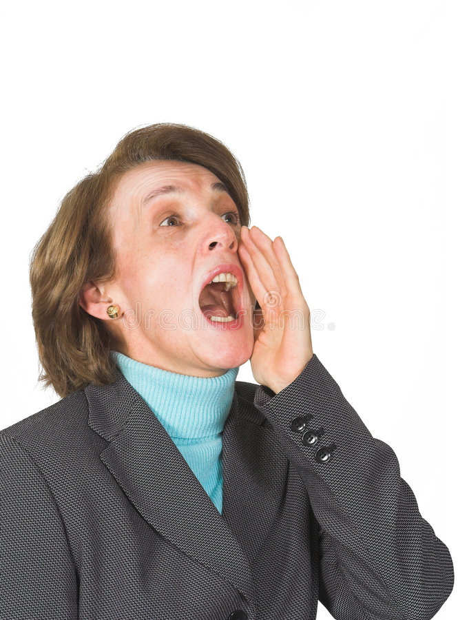 Download Business woman shouting 2 stock image. Image of fourties - 419451