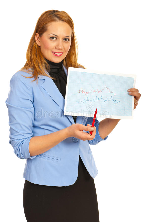 Download Business Woman Showing Graph Stock Photo - Image: 28542924