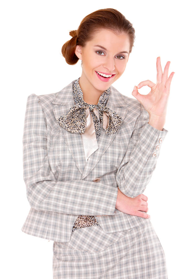 Download Business Woman Showing Okay Gesture Stock Image - Image: 22134849