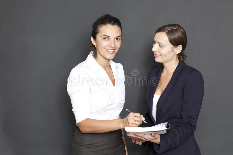 Download Business Woman Signing Documents Stock Image - Image: 23752855