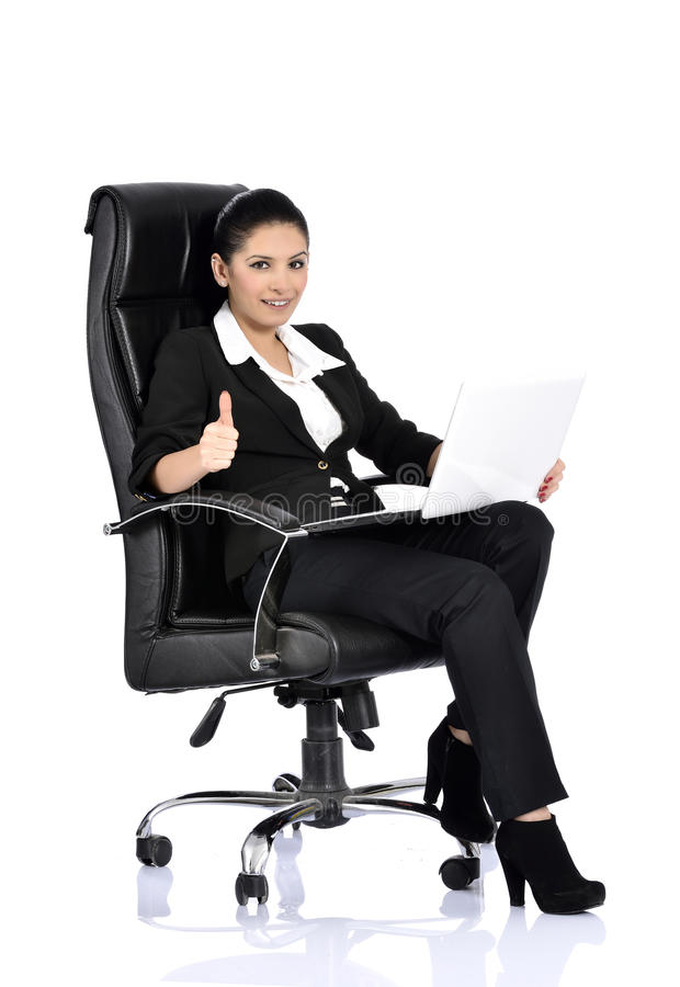 Download Business Woman Sitting On A Chair Stock Photo - Image: 37281634