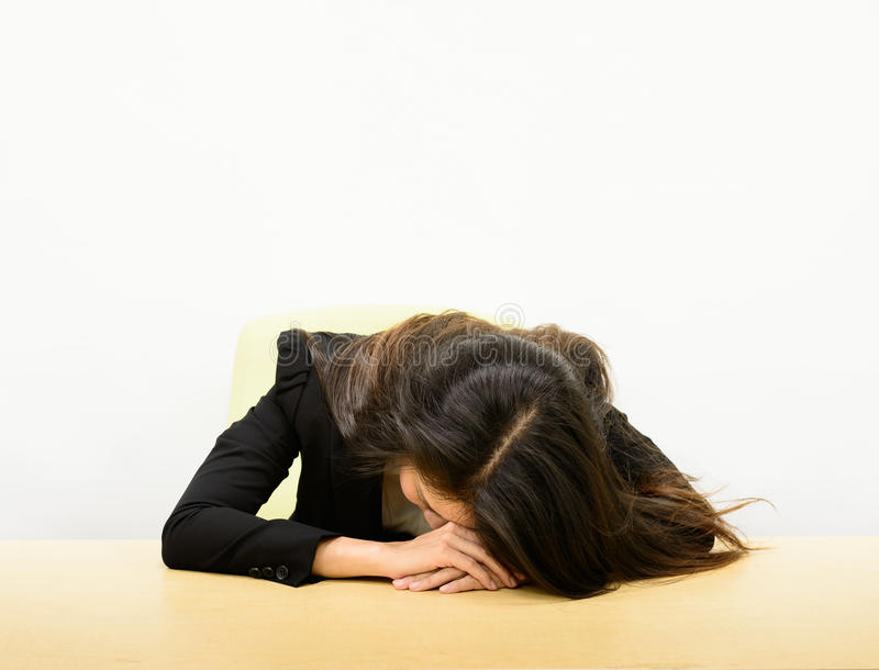 Business woman sleeping