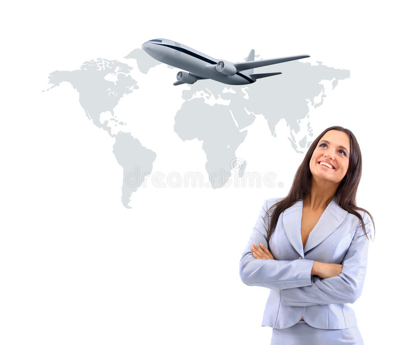 Business woman smileeng royalty free stock image