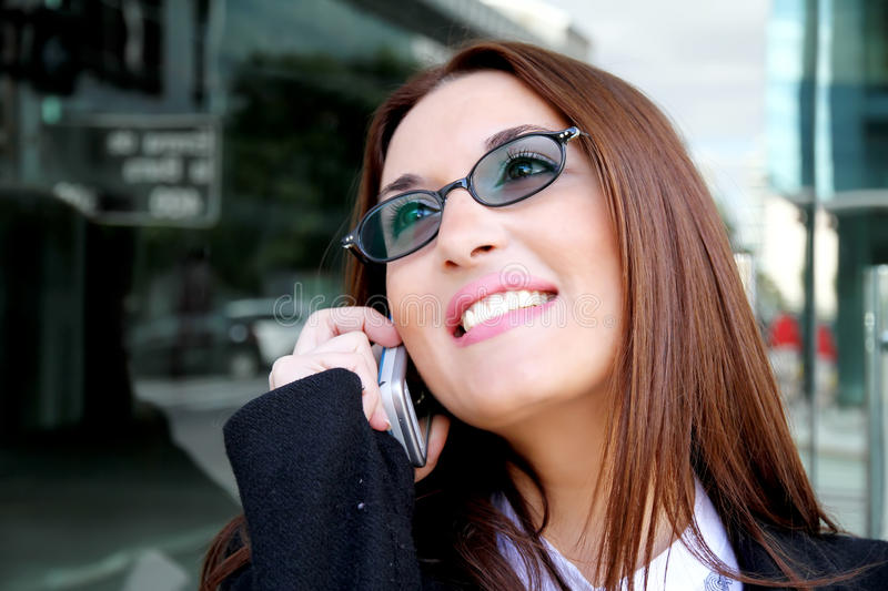 Download Business Woman Smiling On The Phone Stock Image - Image: 19827021