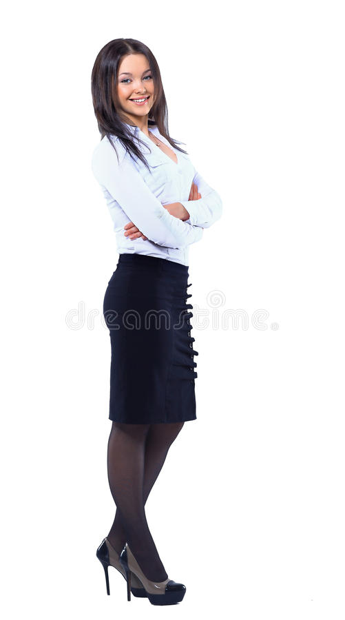 Download Business Woman Standing In Full Length Stock Photo - Image: 33067756