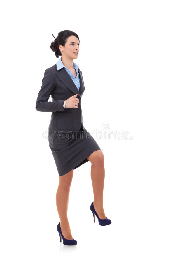 Download Business woman stepping up stock image. Image of friendly - 28782931