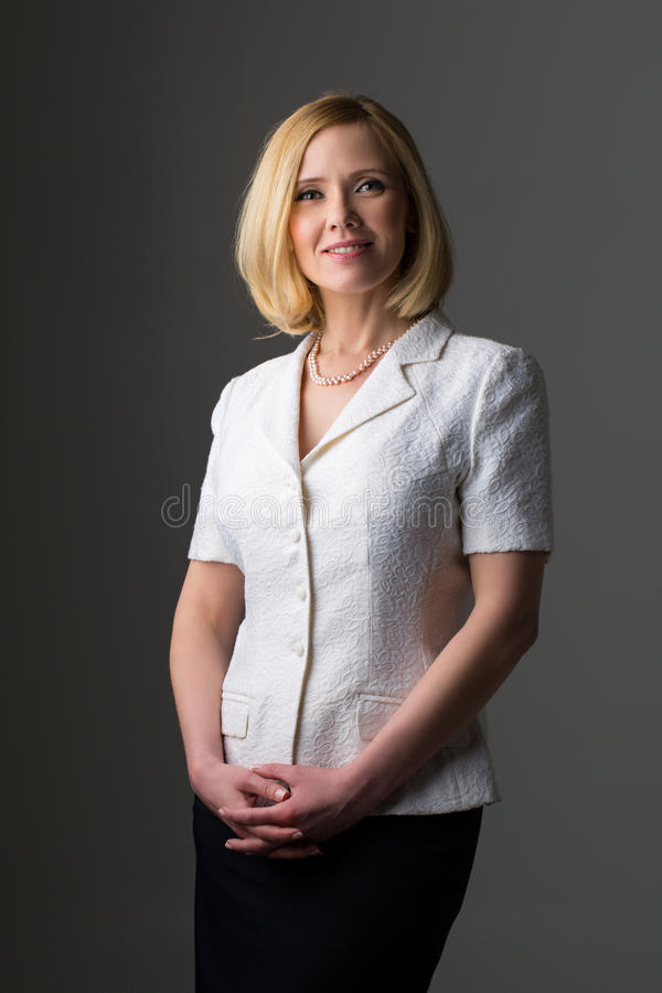 Business woman in suit stock photos
