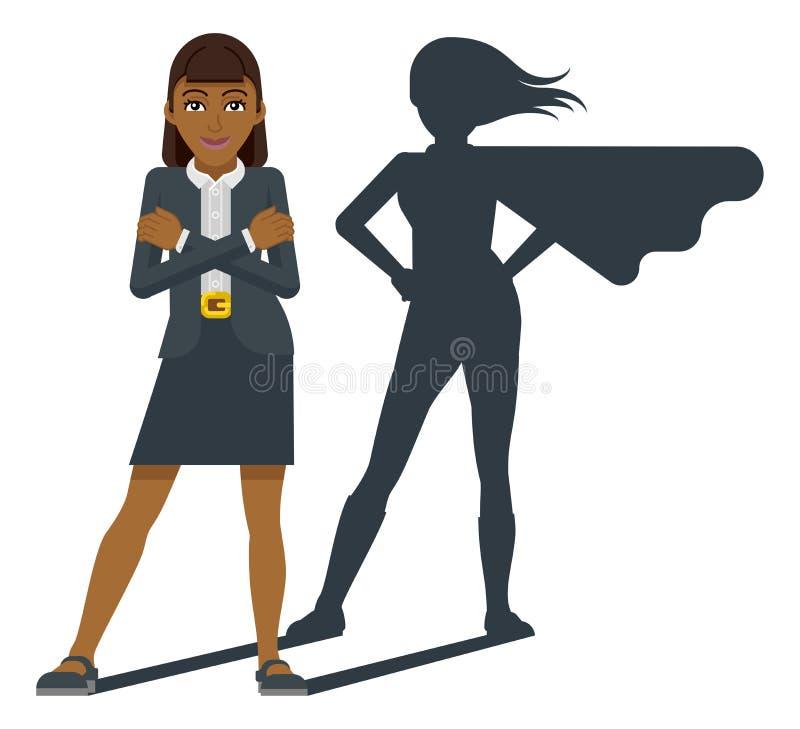 Free Business Woman Super Hero Shadow Cartoon Mascot Stock Photo - 158224400