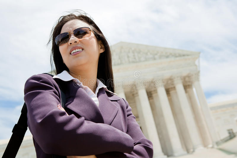 Download Business Woman At Supreme Court Stock Image - Image: 25339003