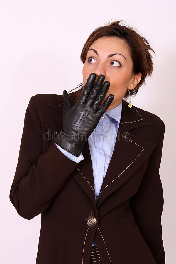 Business woman - surprised expression royalty free stock images