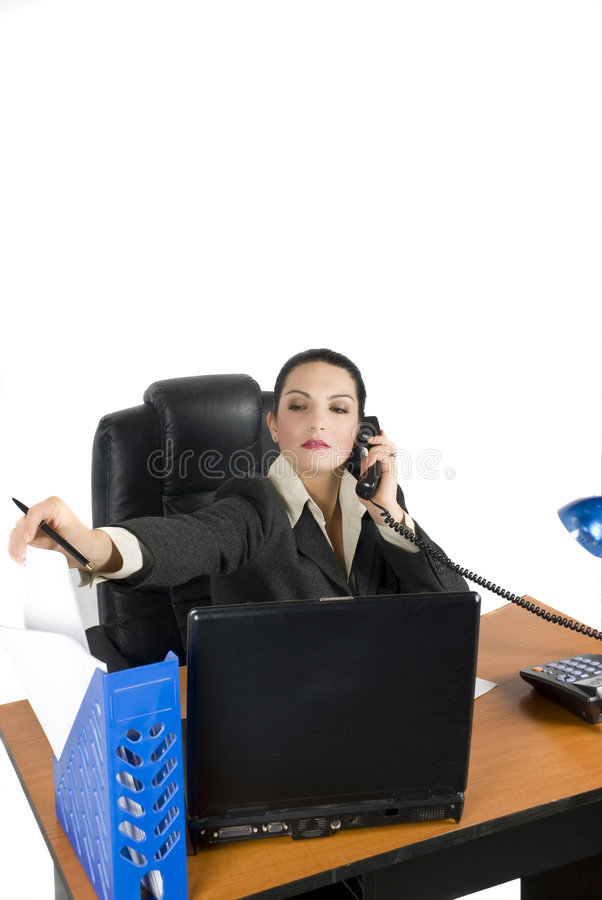 Download Business Woman Take A Paper Stock Image - Image: 6979159