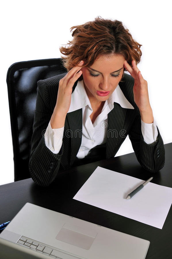 Download Business Woman Taking A Break To De-stress Stock Photo - Image: 11038588