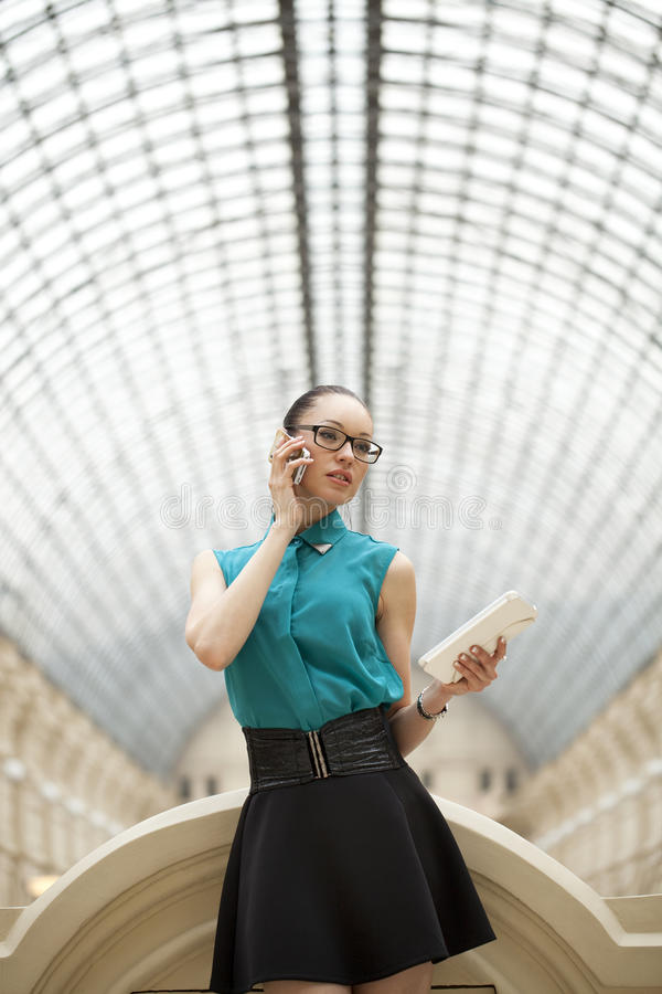 Download Business Woman Talking On Cell Phone Stock Photography - Image: 38447192