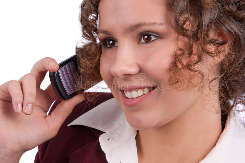 Business woman talking on a mobile phone stock images