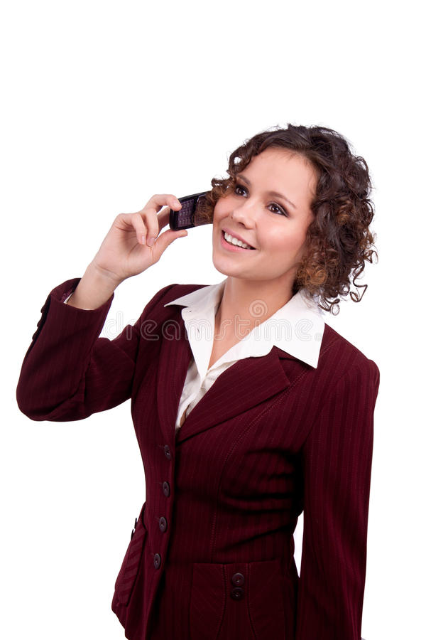 Free Business Woman Talking On A Mobile Phone Royalty Free Stock Images - 19290469