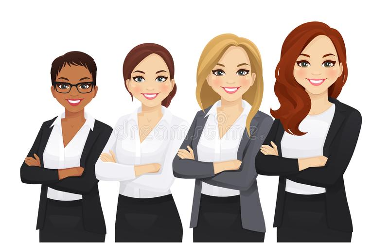Business woman team set vector illustration
