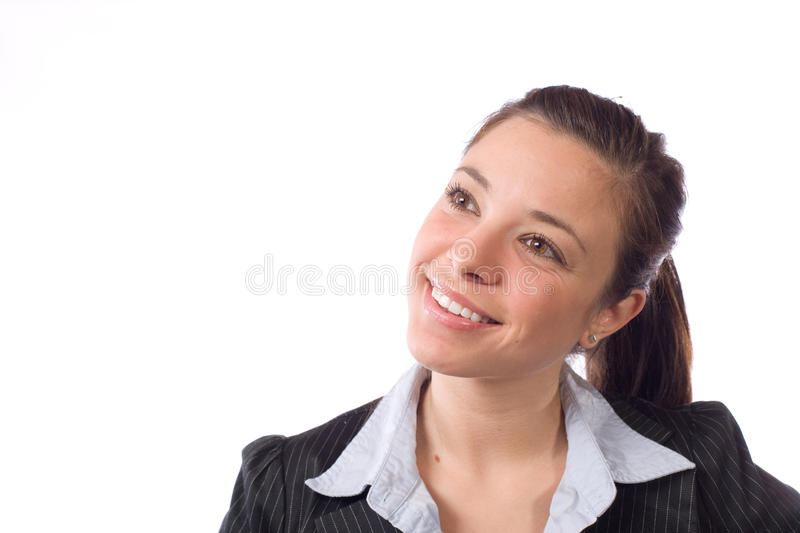 Business woman thinking royalty free stock photos