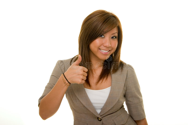 Business Woman Thumbs Up 2 royalty free stock photography