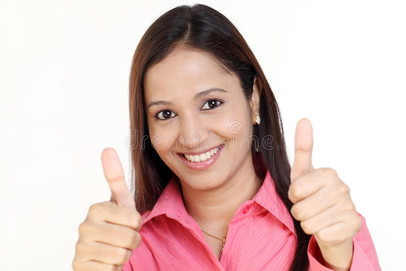 Download Business Woman Thumbs Up Gesture Stock Image - Image: 25543375