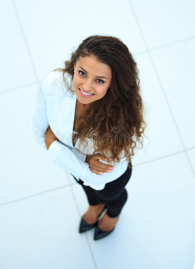 Business woman. Top view royalty free stock images