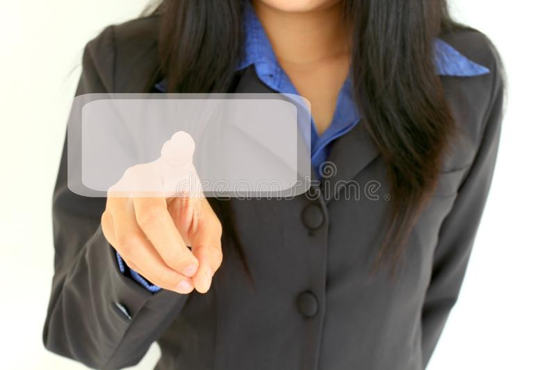 Business woman touch digital interface