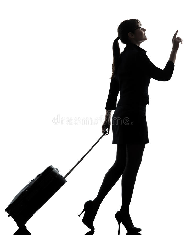 Download Business Woman  Traveling Walking   Silhouette Stock Photo - Image: 31365486