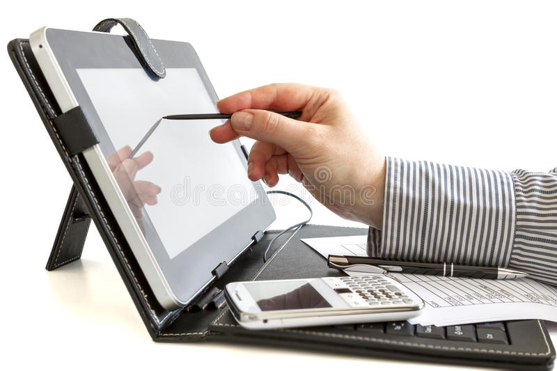 Download Business Woman Using Digital Tablet. Stock Image - Image: 30651513