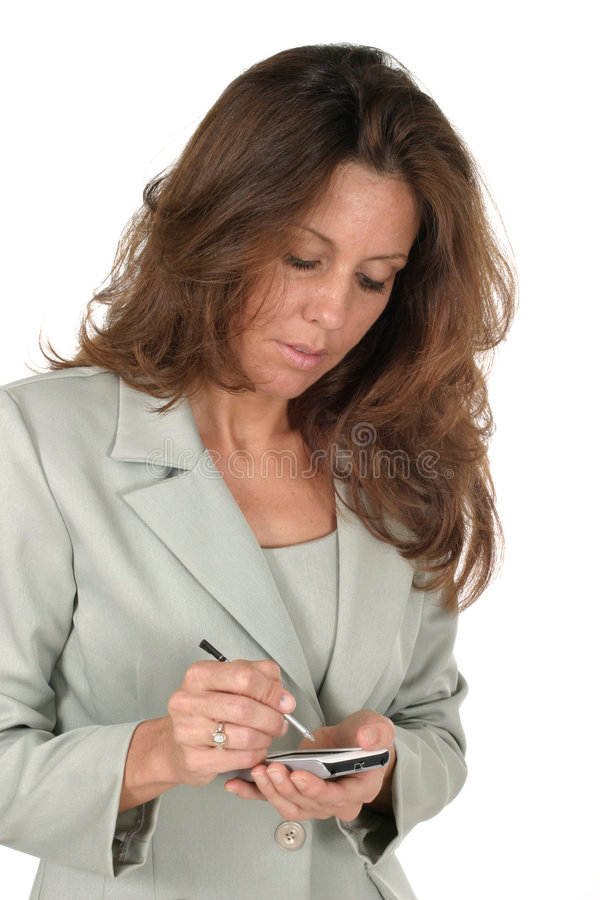 Business Woman Using PDA 1 Stock Photography