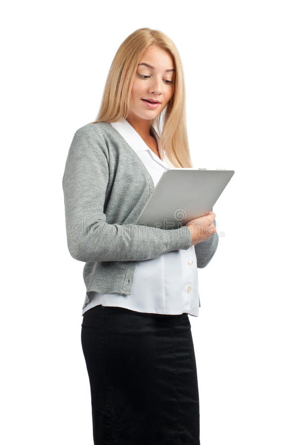 Download Business Woman Using Tablet Computer Royalty Free Stock Photo - Image: 21376165