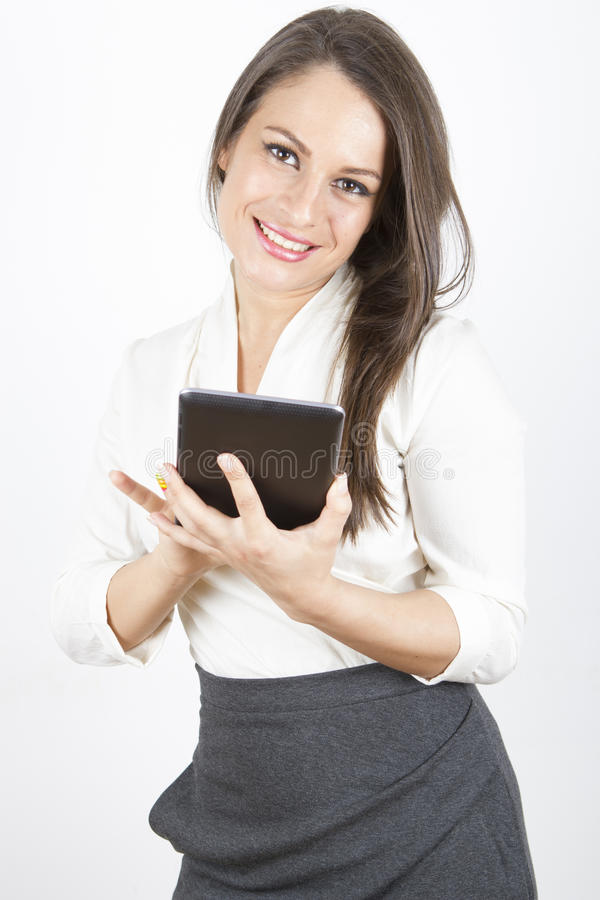 Business Woman Using Tablet Stock Photography