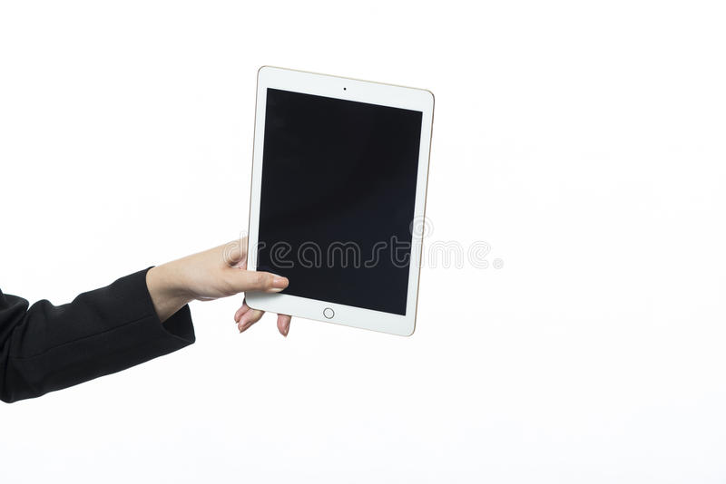 Business woman using a variety of mobile stock photos