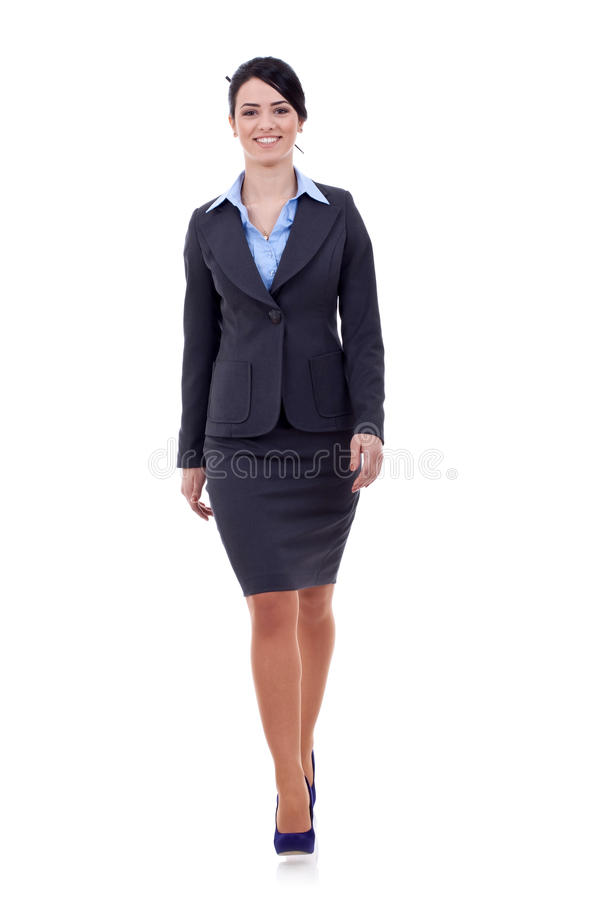 Business woman is walking royalty free stock photo
