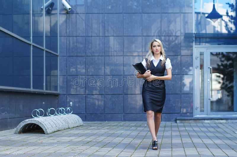 Download Business Woman Walking In The Street Stock Image - Image: 21617415