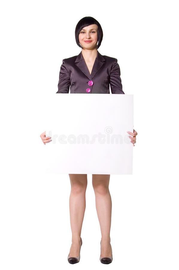 Free Business Woman With Cardboard Royalty Free Stock Photo - 14420555