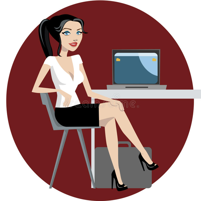 Free Business Woman Working Royalty Free Stock Photos - 10597718