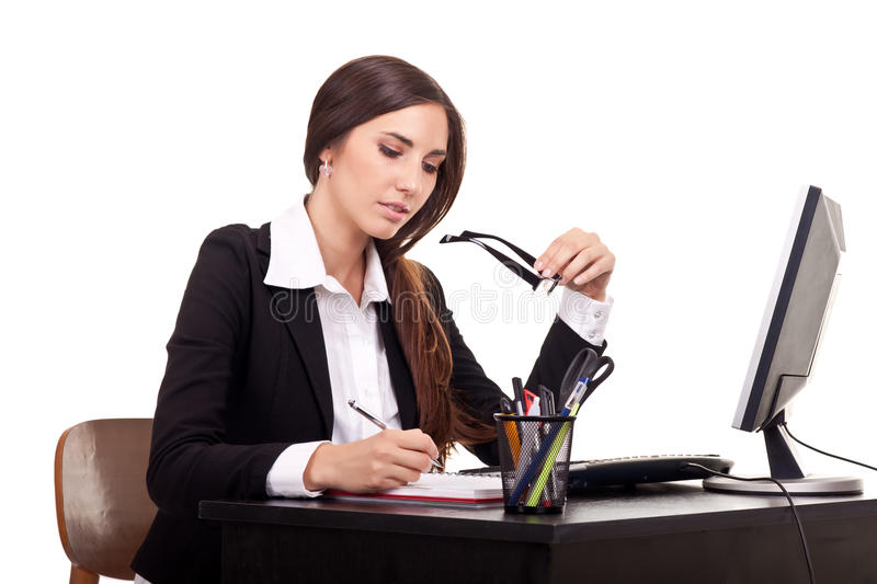 Business woman working stock image