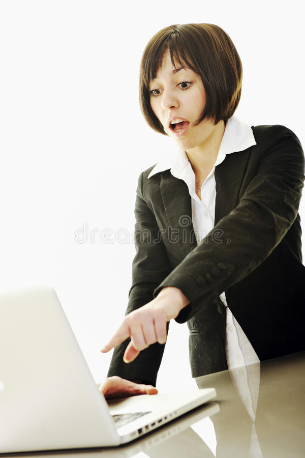 Download Business Woman Working On Laptop Stock Photo - Image: 13167414