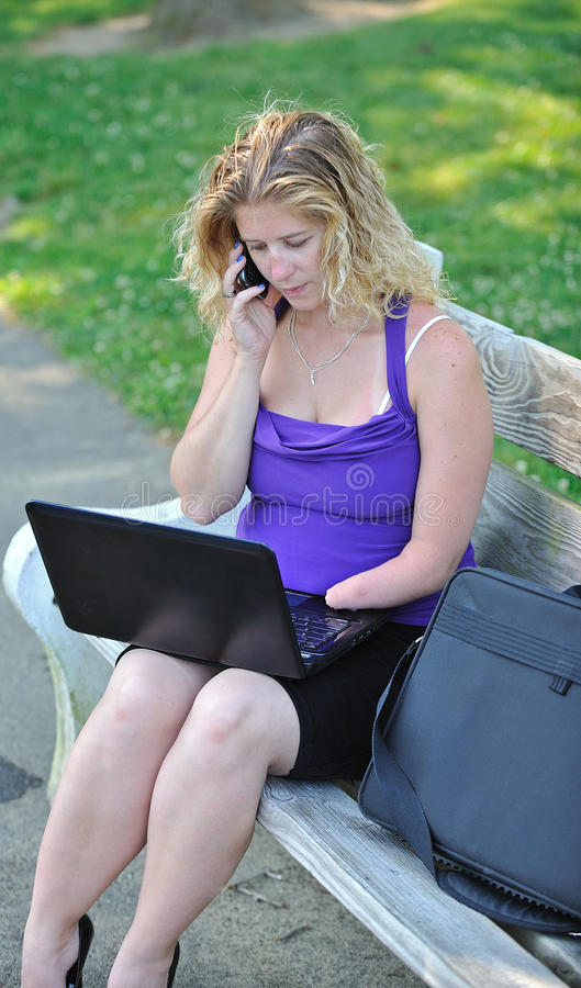 Download Business Woman Working On Laptop - Disability Stock Photo - Image: 25805174