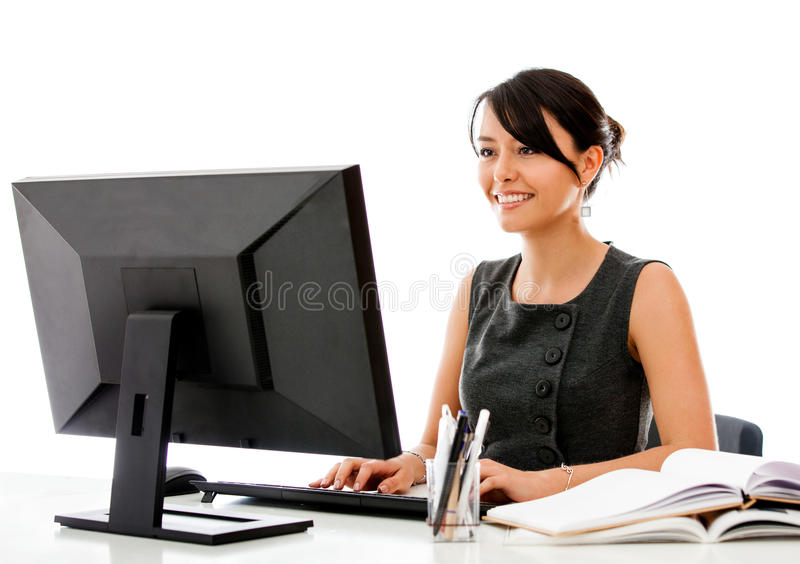 Download Business Woman Working At The Office Stock Image - Image: 26674337