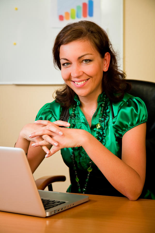 Free Business Woman Working On Computer Stock Image - 15233701
