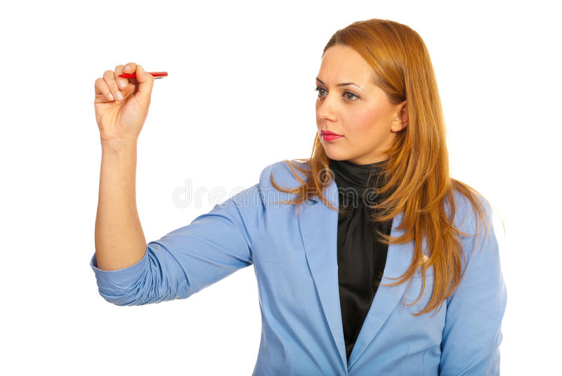 Business Woman Write Stock Images