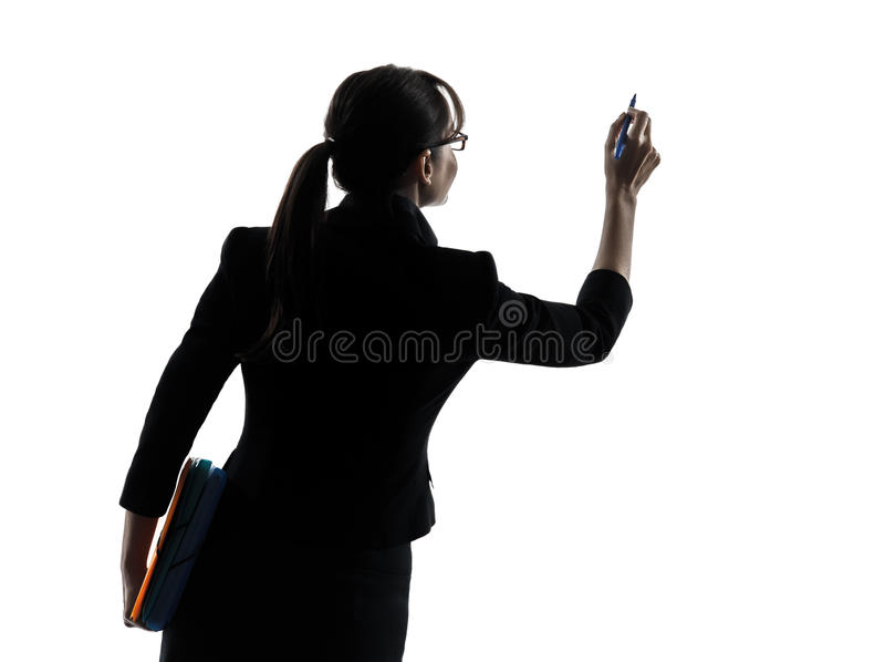 Download Business Woman Writing Copy Space  Silhouette Stock Photo - Image of caucasian, silhouette: 31121288