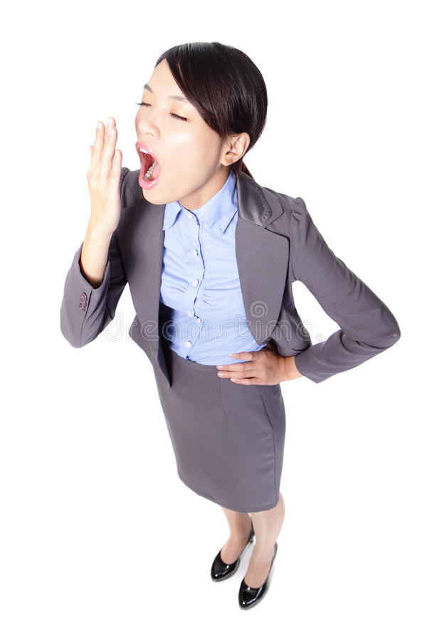 Business woman yawn royalty free stock photography